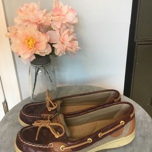 Sperry Leather Angelfish Embossed Boat Shoe 8.5